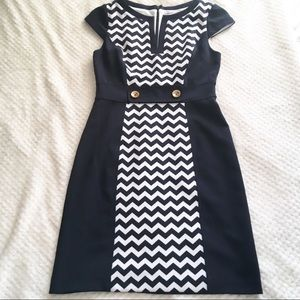 Studio One pin-up style chevron sailor dress 6